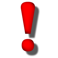 Exclamation mark red